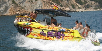 Benidorm Hen Activities Speed Boat Ride