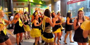 Liverpool Hen Activities Flash Mob Dance