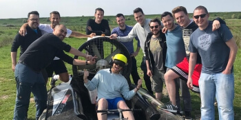 Liverpool Stag Activities Hovercrafting