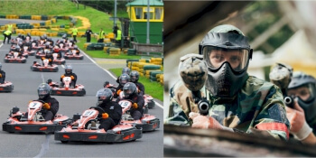 Newcastle Stag Activities Karts and Guns
