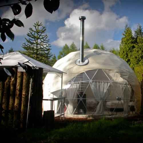 Hen Gloucestershire Glamping Domes Party House