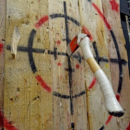 Hen Activities Axe Throwing