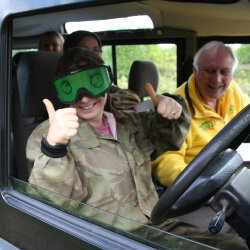 Hen Activities Blindfold Driving