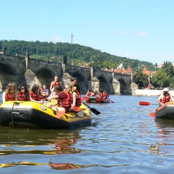 Prague Hen Activities White Water Rafting